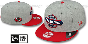 49ers 'SUPER BOWL XIX SNAPBACK' Grey-Red Hat by New Era