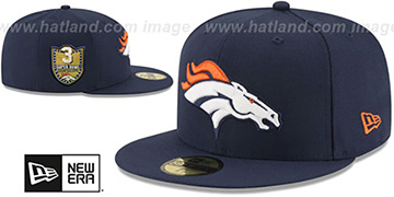 Broncos 'GOLDEN-HIT' Navy Fitted Hat by New Era