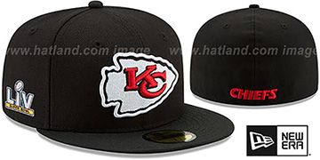 Chiefs 'SUPER BOWL LV TEAM-BASIC' Black Fitted Hat by New Era