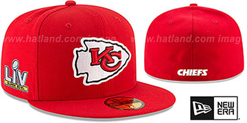 Chiefs 'SUPER BOWL LV TEAM-BASIC' Red Fitted Hat by New Era