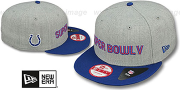 Colts 'SUPER BOWL V SNAPBACK' Grey-Royal Hat by New Era