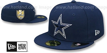 Cowboys 'GOLDEN-HIT' Navy Fitted Hat by New Era