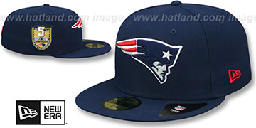 Patriots 'GOLDEN-HIT' Navy Fitted Hat by New Era