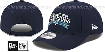 Patriots 'NFL 5-TIME SUPER BOWL CHAMPS' Navy Strapback Hat by New Era