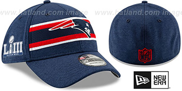 Patriots 'NFL SUPER BOWL LIII ONFIELD FLEX' Navy Hat by New Era