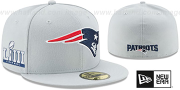 Patriots 'NFL SUPER BOWL LIII ONFIELD' Grey Fitted Hat by New Era