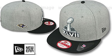 Ravens 'SUPER BOWL XLVII  SNAPBACK' Grey-Black Hat by New Era