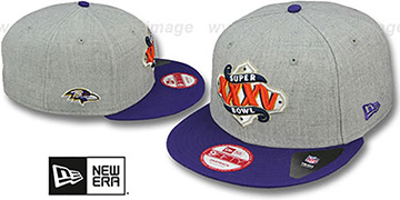 Ravens 'SUPER BOWL XXXV SNAPBACK' Grey-Purple Hat by New Era