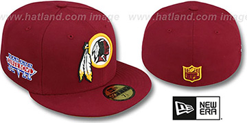 Redskins 'SUPER BOWL XVII' Burgundy Fitted Hat by New Era