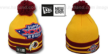 Redskins 'SUPER BOWL XXII' Gold Knit Beanie Hat by New Era