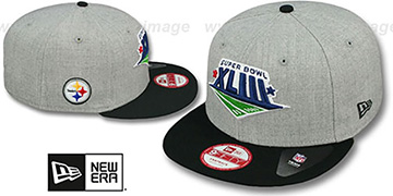 Steelers 'SUPER BOWL XLIII SNAPBACK' Grey-Black Hat by New Era